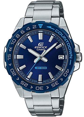 Casio Herren Analog Quarz Uhr mit Edelstahl Armband EFV-120DB-2AVUEF