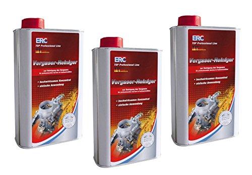 3 X 1L ERC Vergaser Reiniger zur Anwendung in professionellen Werkstätten Bike 52-0115-10