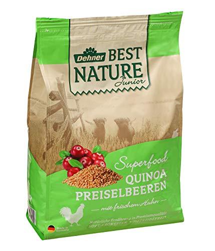 Dehner Best Nature Hundetrockenfutter Junior, Superfood, Huhn mit Quinoa und Preiselbeeren, 4 kg