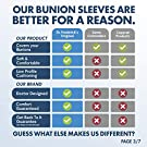 Dr. Frederick's Original Bunion Sleeves - 2 Pieces - Bootie Bunion Cushions - Gel Pad Bunion Relief Guard for Women & Men - Small - W5-6.5 | M4.5-6 #2