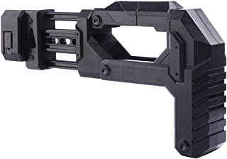 XFC-株式、 ナーフエリートシリーズ用修正パーツストック玩具銃タイプ用ソフト弾丸ブラスターパーツナーフ修正用ストックブラック