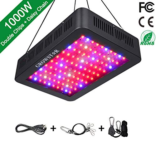1000W LED Grow Light, Growstar Double Chips LED Grow Lamp Full Spectrum for Hydroponic Indoor Plants...