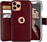 LUPA iPhone 11 Pro Max Wallet Case -Slim iPhone 11 Pro Max Flip Case with Credit Card Holder - for Women & Men - Faux Leather i Phone 11 Pro Max Purse Cases – Burgundy - 6.5 inch Display Screen