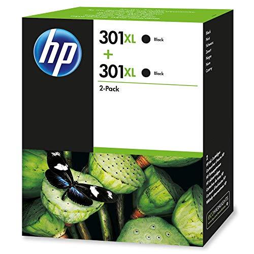 HP 301XL Multipack Original Druckerpatronen mit hoher Reichweite (2x Schwarz) für HP Deskjet, ENVY, OfficeJet