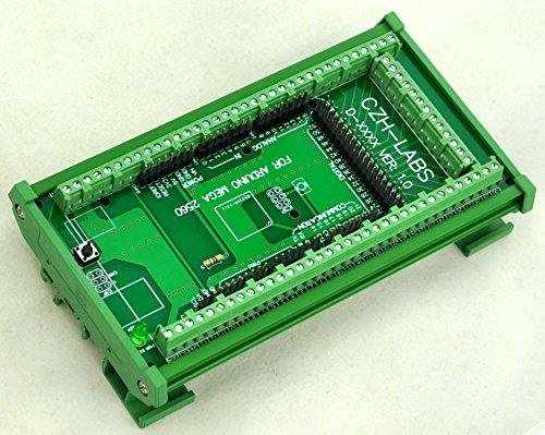 Electronics-Salon - Modulo adattatore per Arduino Mega-2560R3 con guida DIN e morsettiera a vite