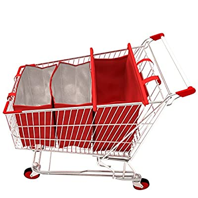 Piavi Shopping Trolley Bags - 3 Eco-Friendly Reusable Grocery Shopping BagsTwo Insulated