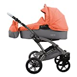 knorr-baby 3200-03 Kombikinderwagen Voletto Happy Colour, grau-orange