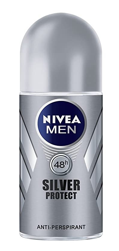 ファセットハンディキャップ偽善者Nivea Men Silver Protect Anti-Perspirant Roll-On 50 ml / 1.7 oz