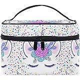 Bolsa de cosméticos de Viaje Unicornio Divertido Rainbow Stars Flowers Unicornio Bolsa de Cepillo cosmético de Viaje...
