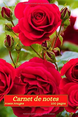 Carnet de notes roses rouges: fleur rose et blanche, fleurs rouges vivaces, fleurs rouges annuelles, carnet à motif floraux, 100 pages lignées , ... idée cadeau pour les fêtes et anniversaires.