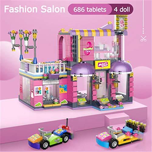AEM 768pcs Compatible Friends Piscina Bloques de construcción Juguetes Juguete Educativo Regalos para niños para Amigas Figuras de Ladrillos, 686 pcs 4 muñecas