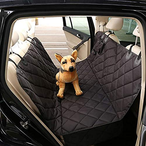DAGUAI Car Boot Protector for Dog, Pet Trucks Back Seat Cover, Universal Waterproof Nonslip for Pet Travel Hammock, Auto Boot Dog Blanket with Side Protection, Easy To Clean-Black