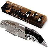 Professional Waiters Corkscrew by Barvivo - This Bottle Opener for Beer and Wine Bottles...