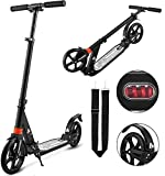 Bunao 200mm Wheels Scooter Lightweight Height Adjustable with Dual Suspension Aluminum Folding Adult