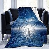 Manta cálida de franela de forro polar para todas las estaciones, ultra lujosas, manta de playa de microfibra mullida para dormitorio (magnífico caballo de acuarela) 156 x 150 cm
