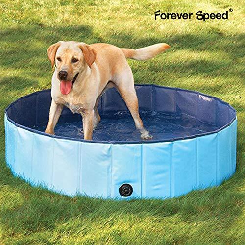 Forever Speed Piscina perros Gatos para perros grandes Portátil Bañera Baño de Mascota Plegable Piscina de Baño Doggy Pool 80 x 20 cm Azul