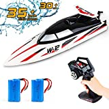 Remote Control Boats for Pools & Lakes,22+mph Fast RC Racing Boat for Kids Adults,4 Channel 2.4 GHZ High Speed Self Righting Toys with 2 Battery Gifts for Boys Girls