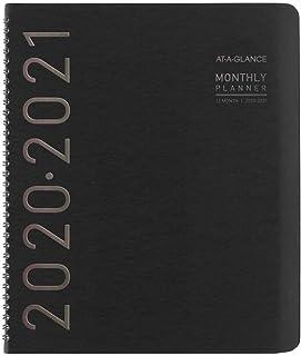 AT-A-GLANCE Academic Planner 2020-2021، مخطط شهري، 9 بوصة × 11 بوصة، كبير، كونتيمبو، أسود (70074 × 05) (70074X0521)