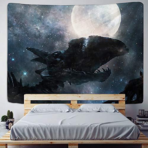 KHKJ Psychedelic Scene Planet Home Deco Art Tapiz Mandala Hippie Bohemio Decorativo Dormitorio sábana sofá Manta Yoga Mat A3 200x180cm