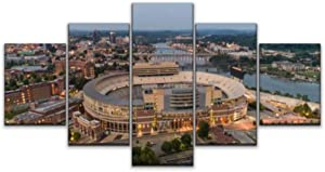 Skipvelo Neyland Sports Stadium Arena Knoxville tn tennessees and Pictures Wall Art Canvas Prints Pictures Paintings Artwork Home Decor Stretched and Framed - 5 Pieces