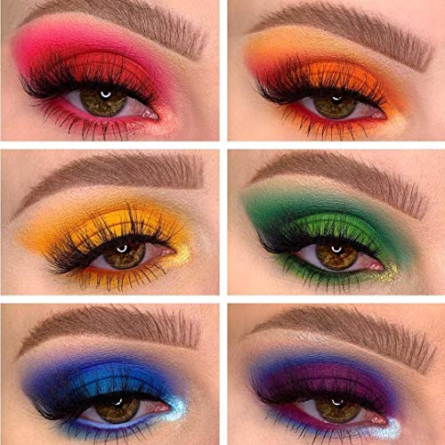 18 Colors Mercury Retrograde Palette, Ultra Pigmented Fine Pressed Eyeshadow Palette Mattes, Metallics, Glitter and Multi-reflective Pinks Blues Mysterious Powder Eye Shadow Palettes 3