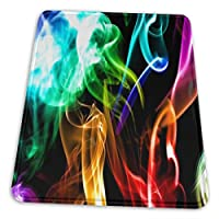 マウスパッド 煙虹色 ゲーミングマウスパット デスクマット 最適 高級感 おしゃれ 滑り止めゴム底 防水設計 複数サイズ
