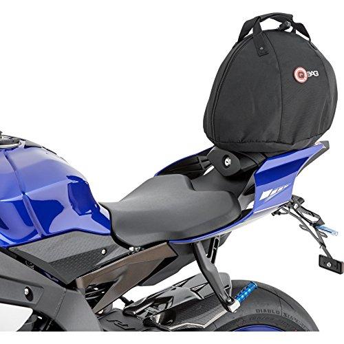 QBag Sac arrière Moto Sac de Moto Sac de arrière/siège/Casque 01 15 litres Espace de Stockage, Unisexe, Multipurpose, Toute l'année, Noir