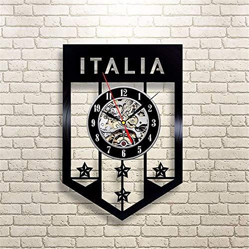 Equipo de fútbol de la República Italiana del Disco de Vinilo Reloj de Pared Material de Vinilo Creativo clásico decoración del hogar Reloj