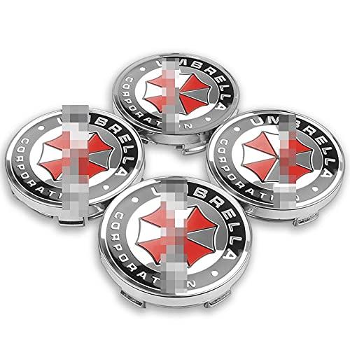 Tapa del Centro de la Rueda para 4pcs 56 / 60mm Cajas de ruedas de automóvil Caps de centro de la rueda de la corporación Emblema Emblema calcomanía compatible con BMW Audi Kia Ford Toyota Suzuki Lada