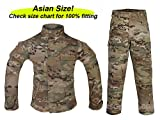 ATAIRSOFT Tactical Airsoft Kids Children BDU Hunting Combat Costume Uniform Shirt & Pants Suit Multicam MC (14Y)