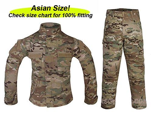 ATAIRSOFT Tactical Airsoft Kids Children BDU Hunting Combat Costume Uniform Shirt & Pants Suit Multicam MC (14Y)