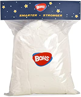 BOHS Ultra-Light Slime and Foam Modeling Clay, Air Dry, for Preschool Arts & Crafts,1.1 Pound/500g (White)