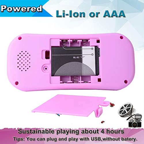 Beijue Retro Handheld Games for Kids Built in 218 Classic Old Style Electronic Game 2.5'' Screen 3.5MM Earphone Jack USB Rechargeable Portable Video Player Children Travel Holiday Entertain (Pink)