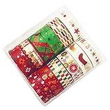 henan Washi Tape-12Roll/Set Christmas Washi Tape Festival de papel DIY Scrapbooking adhesivo adhesivo adhesivo
