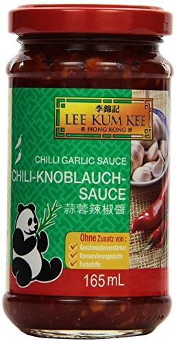 Lee Kum Kee Chili-Knoblauch-Sauce (aus China, scharf, ohne Glutamat, ohne Konservierungsstoffe, ohne Farbstoffe, vegan) 6er Pack (6 x 165 ml)