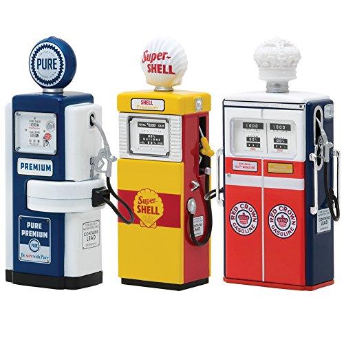 Greenlight Zubehör Gas Pump Zapfsäule Super Shell 1951 gelb/rot für 1:18 Modelle Collectibles