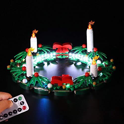 YDDY LED Beleuchtungsset mit Fernbedienung für Lego 2-in-1-Adventskranz 40426 LED-Licht für Lego Weihnachtskranz (Lego Modell Nicht Enthalten)