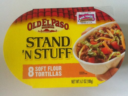 Old El Paso Stan 'N Stuff Soft Flour Tortillas - Pack of 3 (6.7oz Each Box) - Product of Mexico