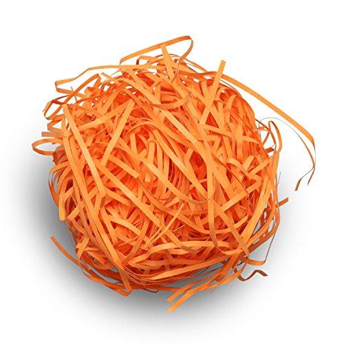 緩衝材 カットペーパー 紙パッキン オレンジ 500g × 1袋 (梱包材 梱包資材 ペーパークッション クッションペーパー ペーパーパッキン ラッピング材料 おしゃれ かわいい)