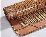 Estera para dormir de verano Bambú, colchón de refrigeración de bambú plegable lavable liso lavable estera de bambú...