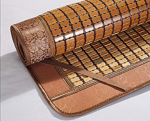 Estera para dormir de verano Bambú, colchón de refrigeración de bambú plegable lavable liso lavable estera de bambú suave almohadilla de dormir de verano -single cama dormitorio,B,150*200cm(59x79inch)