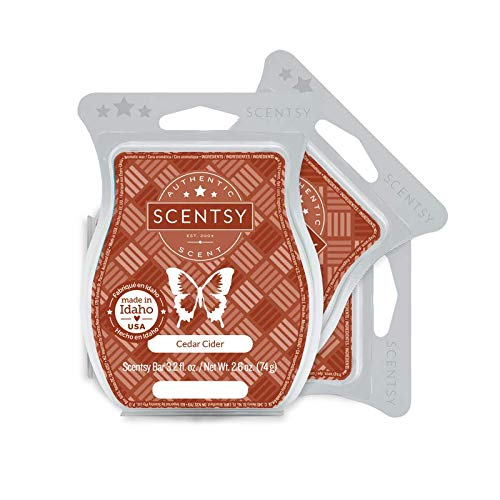 Scentsy Cedar Cider Wickless Candle Wax 3.2 Oz Bar 3-Pack