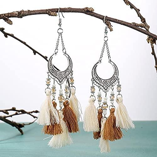 Autumnpoplar Gotas para Mujeres y niñas Pendientes de Estilo Vintage de Posa para el Estilo de Hoja de aleación de Oro de Fiesta