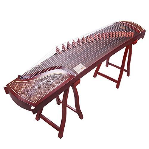 GuanXiao Chinese Guzheng Handgeschnitzte Grilled Muster Anfänger Professionelle Spiel Test-Zither Klassische traditionelle Saiteninstrument 163CM