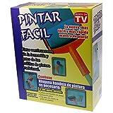 Rodillo de pintura recargable PINTAR FACIL con extensión de palos y jarra de pintura.