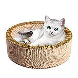 MMIAOO Rascador para gatos, duradero, de cartón con rascador orgánico de hierba gatuna, para muebles, sofás, juguetes ecológicos (redondo negro)