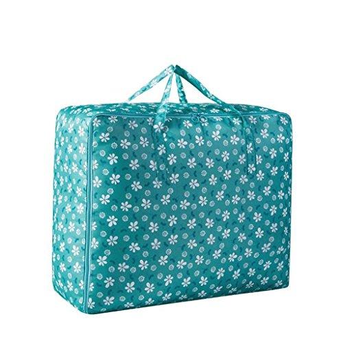 Motif vert foncé de fleur de prunier 3 pièces de vêtements de couette Paquet de finition de boîte de stockage Rollsnownow (taille : 58 * 40 * 22cm)