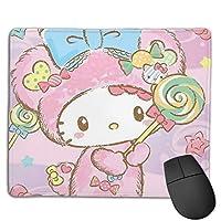 ハローキティ マウスパッド かわいい 小型マウスパッドは18×22cm ゲームおよびオフィス用/防水/洗える/滑り止め/ファッショナブルで丈夫