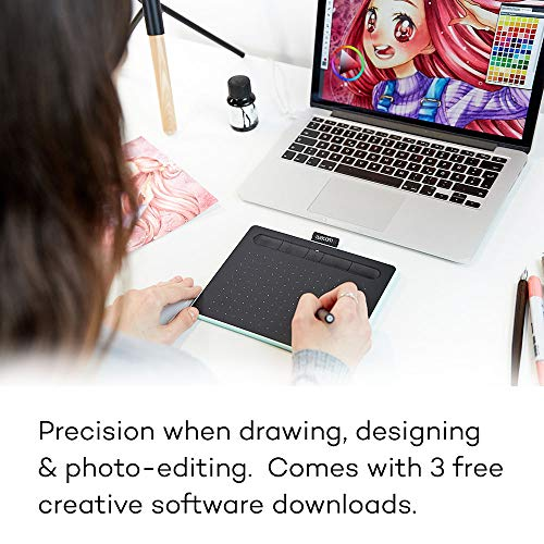 Wacom CTL4100 Intuos Graphics Drawing Tablet with 3 Bonus Software...