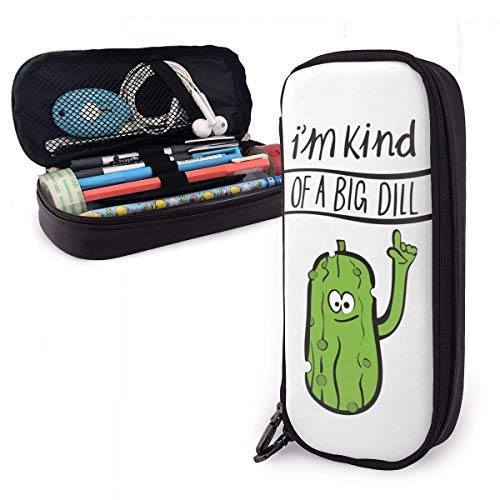 Ich bin eine Art Big Dill Studenten Big Capacity Leder Bleistiftetui Stiftbeutel Schreibwaren Bastelbedarf für Schularbeit Bürogeschenk